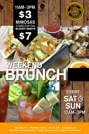 Downtown - Dallas - Weekend Brunch - Frankie's - Downtown - Dallas - Sports - Bar