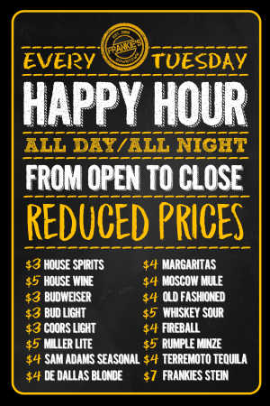 ALL DAY HAPPY HOUR