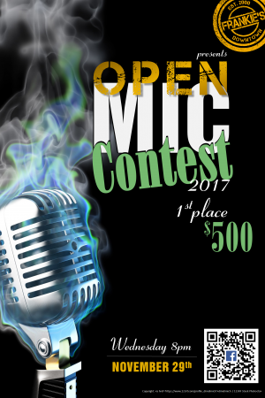 Frankie's Downtown Open Mic Night Contest 2017