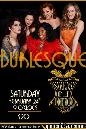Dallas - Burlesque - Sirens - of - the - Underground - Frankie's - Downtown - Dallas - Sports - Bar