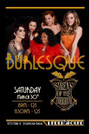 Dallas - Burlesque - Sirens - of - the - underground - Frankie's - Underground