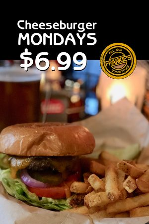 Cheeseburger-Mondays-$6.99-Frankie's-Downtown-Sports-Bar-Dallas